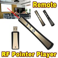 Wholesale car T sets ft Wireless PPT Presenter Red Laser Pointer Pen for Powerpoint Presentation USB Receiver Remote Controller