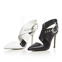 american metal heels - Europe station summer new European and American casual solid color decorative metal stiletto leather sandals Aifei L059