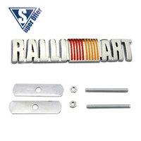 benz hood - 3D Metal Sport power Front Hood Grill Badge Emblem stickers screws for RALLIART RALLI ART SILVER CHROME