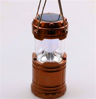 Wholesale 2016 New Arrival W Solar LED Camping Lantern Degree Lighting with Solar and USB Charging Emergency Survival Lamp