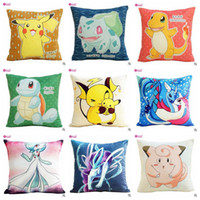 ball sofa - Pikachu Pillow Case Cover Poke Ball Pillow Covers Poke Sofa Cushion Pocket Monster Pillowcase Squirtle Charmander Pillow Case Home Decor C63