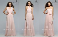 Wholesale Cocktail Long Dress For Bridesmaid - Convertible Bridesmaids Dresses 2016 FAVIANA Cameo A-Line Chiffon Long Formal Cocktail Gowns Maid Of Honor Dress For Wedding Party Cheap