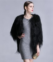 Wholesale Hot Selling Women Winter New Fashion Casual Full Sleeve Faux Goat Fur Coat Fashion Women Clothing