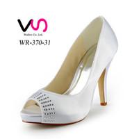 almond champagne - 2015 Women Silver Custom big size wedding shoes crystals rhinestones bridal wedding Peep toe shoes Diamond Shoes Party Prom High Heels shoes