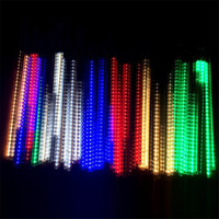 animal shower curtains - Mini LED Meteor Shower String Lights for Wedding Party Christmas RGB LED Waterproof cm Meteor Lights for Outdoors Lighting