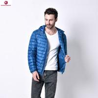 Wholesale New Mens Autumn Hooded Casual Coats White Duck Down Ultra Light Men s Down Jacket Coat Plus Size XL Men Winter Jackets JF0020
