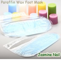 Wholesale Set Rose Paraffin Wax Pedicure Foot Socks FDA Personal Skin Care Moisture Masks Reusable Manicure Home SPA