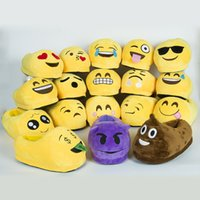 b house - Emoji Slippers Cartoon Plush Slipper Home Men Women Slippers Winter House Shoes Yellow Cartoon Cotton Shoes