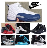 french lace - Nike Air Jordan Mens Basketball Shoes J12 French Blue Original Quality Retro The Master Jordans Taxi Playoffs Gamma Blue With Box