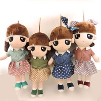 big baby birth - 40CM Kawaii Big Eyes Cartoon Fashion Girls Stuffed Plush Soft Rag Dolls Pretty Ladies in Dresses Baby Dolls Children Kids Toys