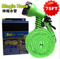 Wholesale Expandable Flexible Scalable garden magic Water Hose Pipe tube FT FT FT with EU US thread version Nozzle Sprayers retail boxes