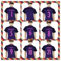 barcelona a iniesta soccer jersey - Women Barcelona soccer Jersey Suarez Messi Neymar JR Gomes A Iniesta Umtiti Women s Purple Away Jerseys