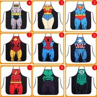 Wholesale Funny Cooking Kitchen Apron Sexy Dinner Party Apron delantal cocina aprons for woman and man delantales Super hero