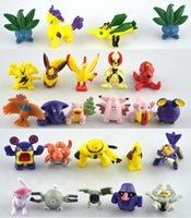 Wholesale 144 Style Poke Figures Toys cm Multicolor Free DHL Children cartoon Pikachu Charizard Eevee Bulbasaur Suicune PVC Mini Model Toy
