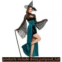 Wholesale Halloween Cosplay witch dress elegance temperament sexy dress to ladies