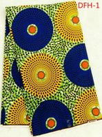 Wholesale DFH HIGH QUALITY SUPER WAX HOLLANDAIS AFRICAN WAX PRINTS FABRIC DUTCH WAX FABRIC FOR SEWING YARDS COTTON FABRIC