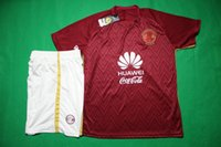 america shipping - 16 Futbol America away red soccer jersey men short sleeve thai quality soccer uniforms football sets soccer kit sport wear