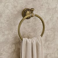 antique clothing racks - Wall Mount Towel Ring Rack Clothes Hanger Antique Brass Finish