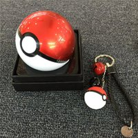 bank pendants - Poke ball bell power bank keyring key chain pocket monster weave braid Lanyard key Accessories keychain pendant for powerbank backpack hot