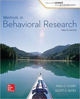 behavioral books - Book Methods in Behavioral Research th Twelfth Edition by Paul C Cozby Scott C Bates