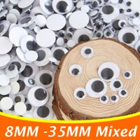 Wholesale 1000PCS Self adhesive Stuffed Dolls Eyes For Plush Toys Eyes Doll DIY Toys Accessories MM Mixed Eucational DIY Toys DY01
