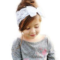 big boys heads - Hot Sale Baby Hair Bands Girls Boys Lace Big Bow Hair Band Baby Head Wrap Headband Accessories hair accessories Lowest Price