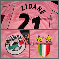 Wholesale Serie A JU centenary Match Worn Player Issue Shirt Jersey Short sleeves Zidane Del Piero Soccer Football Custom Patches Sponsor