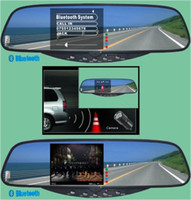 auto rearview mirror with bluetooth - Build in Bluetooth Upgraded Car Rearview mirror with Dual Videos Inputs and Auto Adjust Brightness LCD monitor Compatible with Car DVR