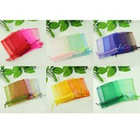 Wholesale Beautiful Mixed Colour Organza Pouch Jewelry Gift Bag for Wedding Festival