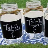 american label - Vinyl Blackboard Sticker Label for Kitchen Canisters Cute Wall Sticker Rectangles Set of Pieces