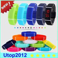 Fashion watch led - LED Watch Fashion Sport Digital Watch Silicone Bracelet Watch For Women Men Kids Wristwatch