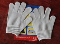 Wholesale Free DHL Cut Resistant Gloves Protection Breathable Safty Work Gloves For Hand Yard Protective Gloves cotton Kitchen Gloves E803E