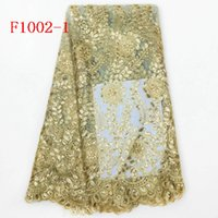 Wholesale 2016 african lace fabric in French lace fabric with sequins for dress in yards