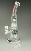 Wholesale Bongs Hitman bong recycler glass bong oil rig sundae stack water pipe feb egg bong hitman type new mother ship bong cheaper bong