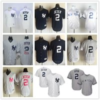 pinstripe baseball jerseys - New York Derek Jeter Gray With GMS The Boss Patch and White Pinstripes NY Yankees Baseball Jerseys with no name on back