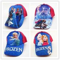 baseball toys - 2016 New Fashion Frozen Baseball Cap Beanies Ninja Turtle Kids Cartoon Caps Hats Toy Hats Children Sofia Baseball Cap in stock
