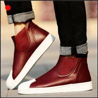 al por mayor justin bieber zapatos de cuero-Zapatos de hip-hop de la marca de fábrica de los hombres del diseñador de Justin Bieber
