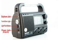 dynamo emergency light radio - DEGEN DE16 FM FML MW SW hand Crank Dynamo Solar Emergency alarm Radio LED light World Receiver four power supply charge phone