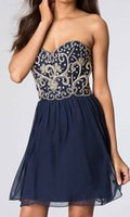 beaded flowers free patterns - High Qualities Sweetheart Beaded Patterns Dark Navy Prom Gowns Short Worldwide
