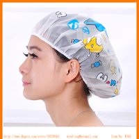 Wholesale hot selling Cartoon bathing cap shower caps one size free size bathroom tool windwong W165