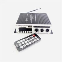 audio amplifier power supply - Lepy LP V9S V Remote Mini Hi Fi Digital Stereo Audio FM SD USB MP3 U disk player mini Car amplifier including power supply
