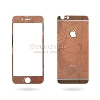 anti diamond - For iphone s plus s SE D Diamond Mirror Screen Protector Front Back Colored Tempered Glass retailpackage