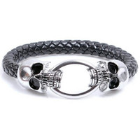au bangles - AU top popular Punk Skull BRACELET Unisex women snake skin strap style wrist Bangles Exclusive bracelet QUICK RECEIVING FACTORY DIRECT