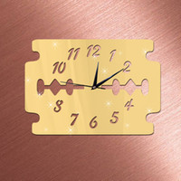 bathroom clock - DIY Wall Clock x28cm Blade Decorative PS Mirror Wall Mirror Stickers Clock Bathroom Decoration Watch Clocks Wall Stickers
