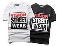 Wholesale Mens T shirt Fashion Vision Street Wear NY T shirt Men Women Summer Style Hip Hop Casual Sport T shirt Brand Vision T shirt