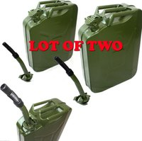 Wholesale Green L Storage Refill Can NEW of Gallon Jerry Can Gas Fuel Steel Tank