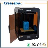 Acheter Double filament-Nouvelle structure en métal pleine Createbot Max Imprimante 3D Écran tactile double extrudeuse Kit d'impression 3D avec lit chauffant Deux Rolls Filament Carte SD