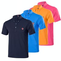 Wholesale New fashionable Golf clothoes shirt sleeve sport Golf shirt colors S XXL size for summer Casual Wear