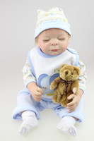 baby clothes market - 20 cm Lovely Reborn Baby Boy Dolls With Blue Baby Doll Clothes The Most Hot Sell Whole Silicone Baby Dolls In Russia Markets