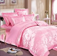 Wholesale top selling luxury cotton satin jacquard bedding set